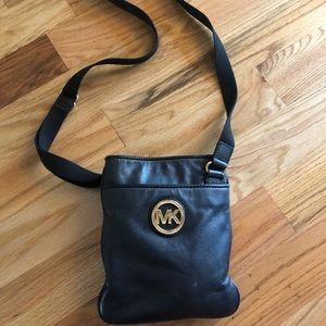 Michael Kors Black Crossbody Fulton Leather Purse